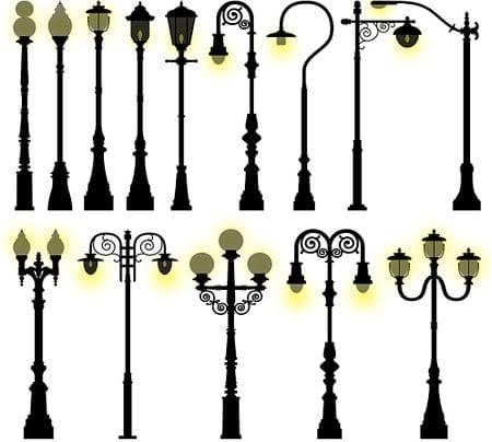 столбы для фонарей наружного освещения