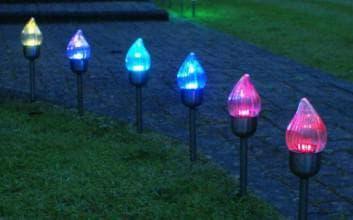 ночные газонные светильники