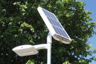 уличный фонарь от солнечной батареи