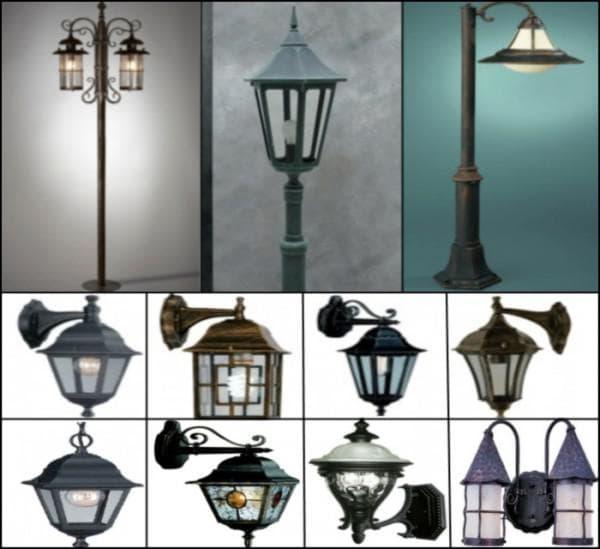декоративные светильники для освещения участка