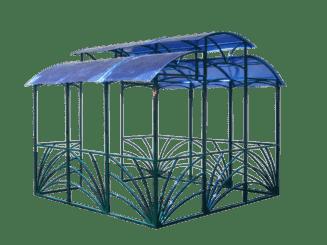 проект беседки с голубого поликарбоната