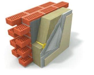 Структура утепления стен полистиролом