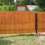 декоративный забор из бетонных панелей