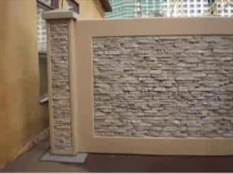 декоративные блоки, забор из декоративных блоков