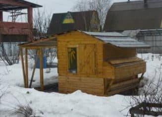 Дом для птиц зимой