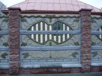 забор, декоративный бетон