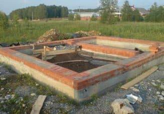 фундамент для кирпичного сооружения