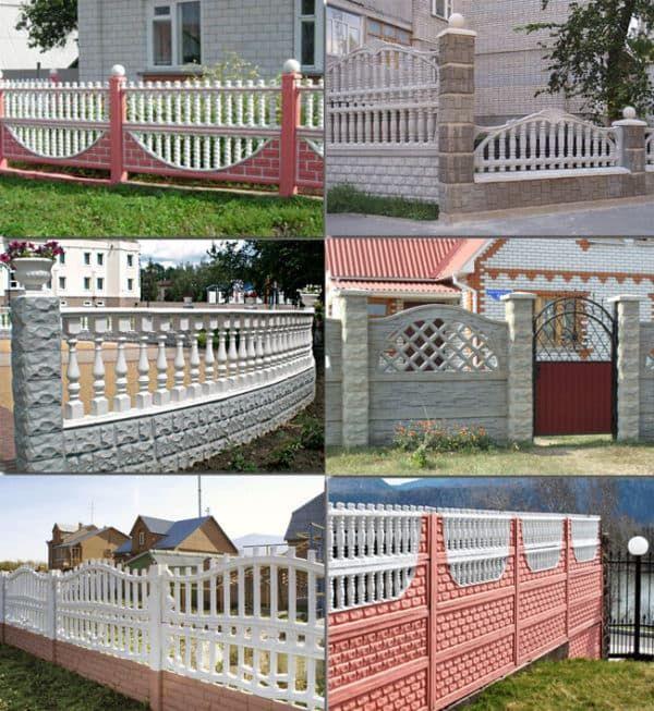 забор, бетон декоративный