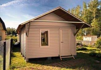 хозблок и туалет под одной крышей
