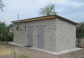 строительство хозблока с баней