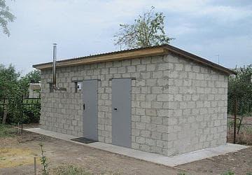 Баня с хозблоком под одной крышей проекты
