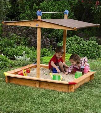 Место для детской песочницы