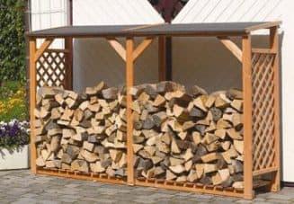 строительство дровяника на даче