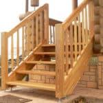 как сделать входную лестницу в дом