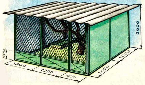 Как сделать клетки для фазанов руководство