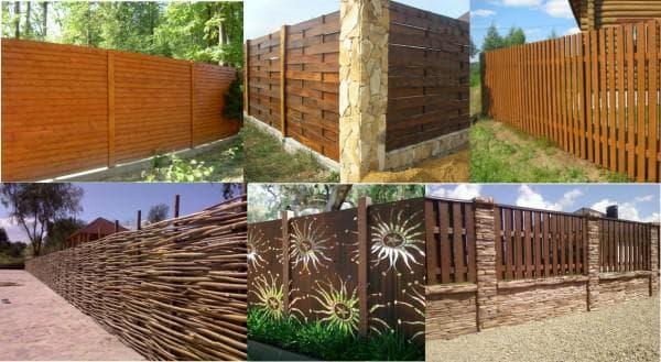 Фтото деревянных заборов для частного дома