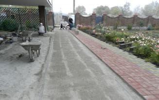 укладка тротуарной плитки на сухую смесь