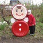 поделки из колес для детской площадки