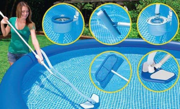 механическая очистка воды в бассейне на даче