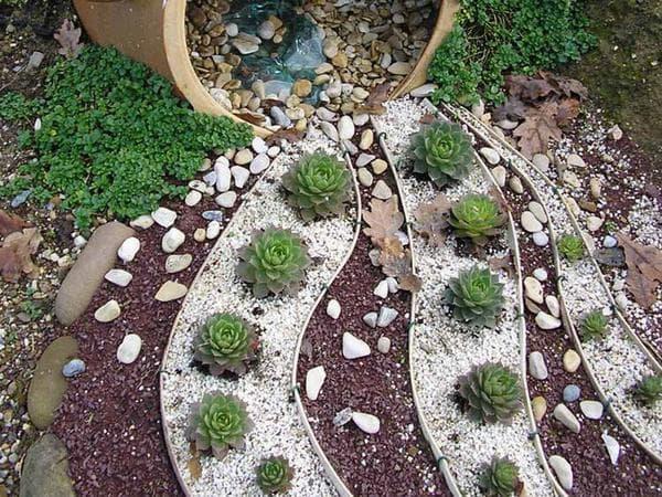 сухой ручей в ландшафтном дизайна своими руками