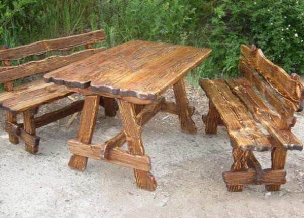 деревянный стол и стул для детской площадки