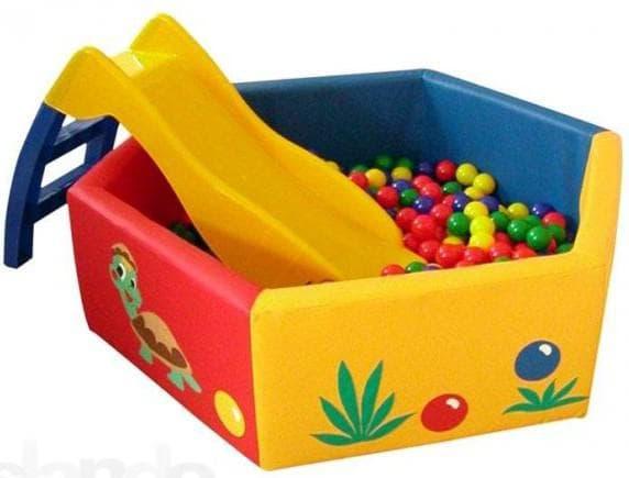 детский сухой надувной бассейн с горками