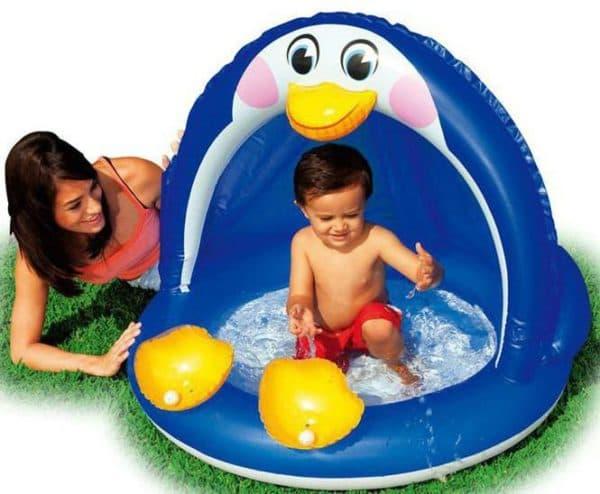 детские надувные бассейны для малышей с невысоким бортиком