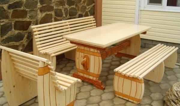 деревянные столы для дачи в леруа мерлен