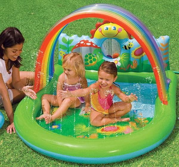 детские надувные бассейны для малышей с фонтаном