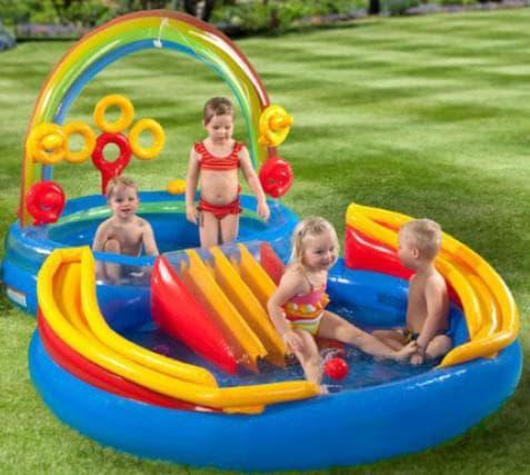 детские надувные бассейны для малышей С игровыми комплексами