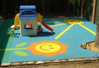 резиновое покрытие для детских площадок на даче красивые горки