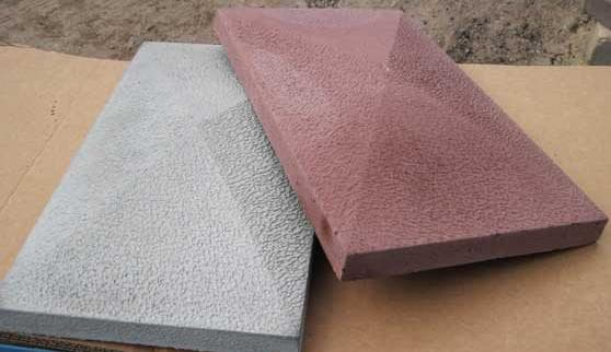 бетонные колпаки на столбы забора четырехскатная пирамида