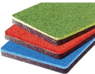 резиновое покрытие для дорожек в саду различного цвета