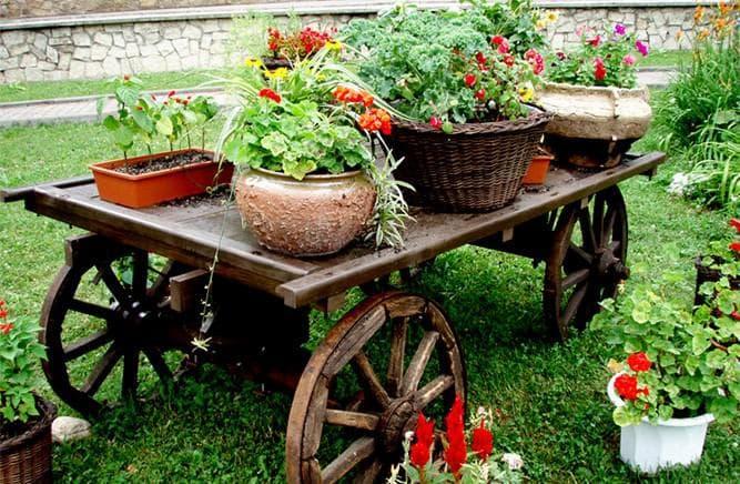 Декоративная телега своими руками для сада или дачи: пошаговая инструкция с фото и видео