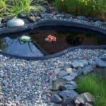 как установить пластиковый пруд на даче