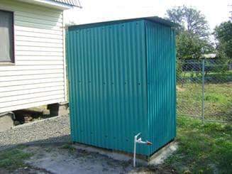 металлический душ для дчи
