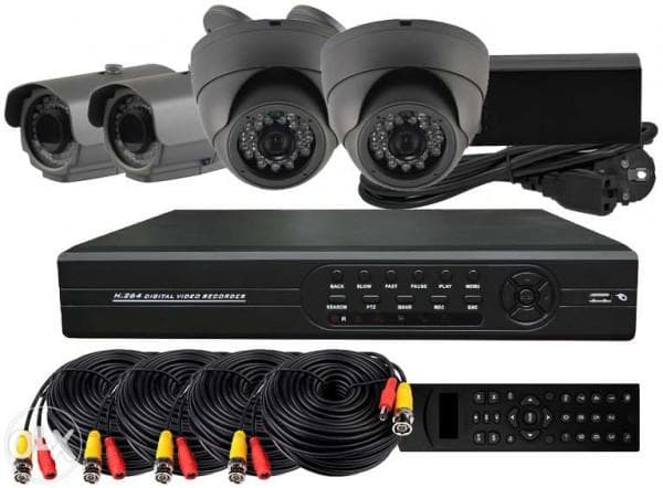 комплект видеонаблюдения на 4 камеры для улицы