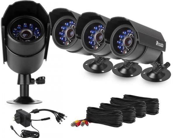 фото комплект видеонаблюдения на 4 камеры по месту расположения