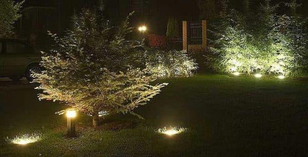 Грунтовые светильники для дачи