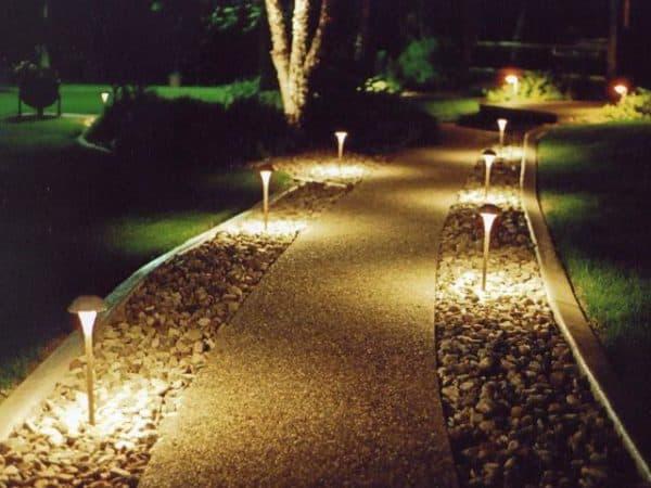декоративные светильники столбики для дачи