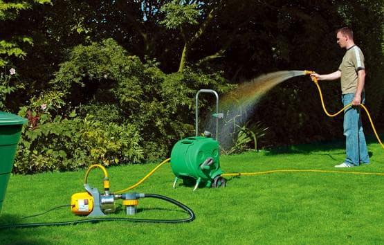 насос для полива огорода из бочки