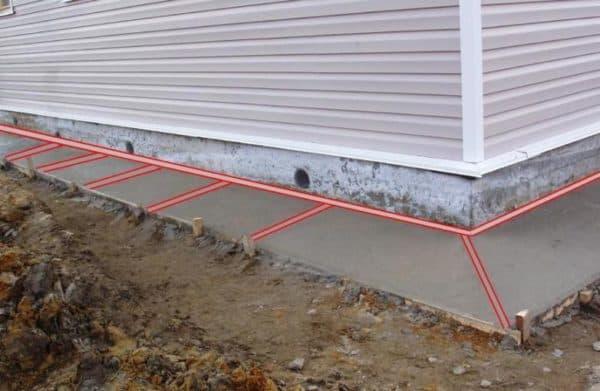 предохранительная функция отмостки вокруг дома