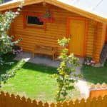 деревянная баня с террасой