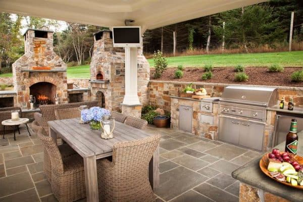 Плитка на летней кухне