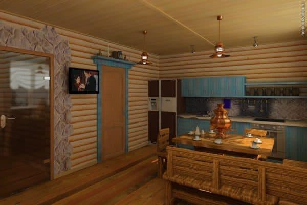 план комнаты отдыха с баней