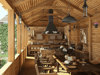 летняя кухня на веранде