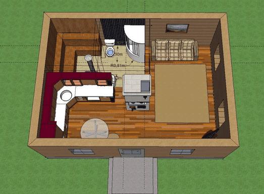 план бани с комнатой отдыха