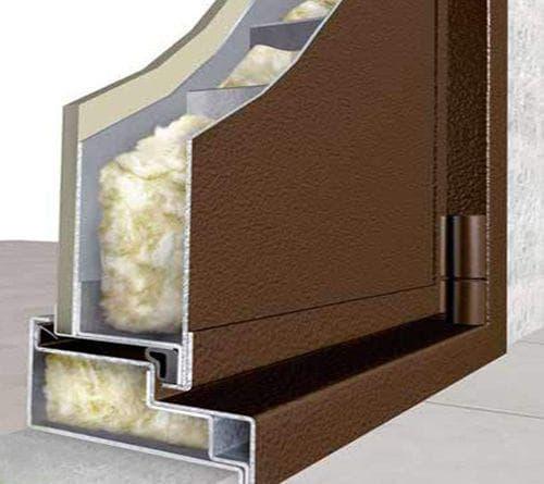 минеральная вата для утепления входной двери