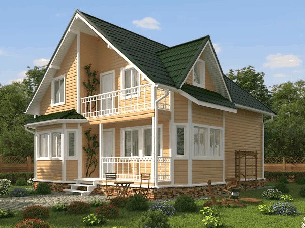 двухэтажный дом 8х10 с отличной планировкой