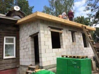 построить пристройку к дому из пеноблоков